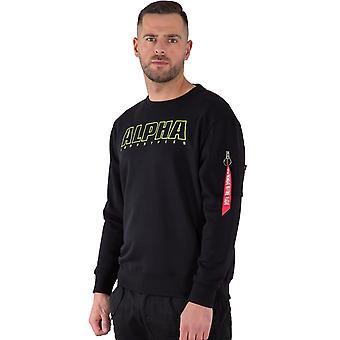 Alpha Industries Herren Sweatshirt Alpha Embroidery