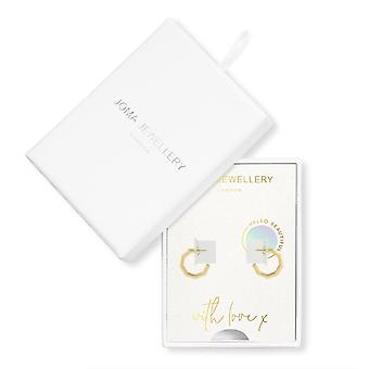 Joma Jewellery Treasure The Little Things Hello Beautiful Gold Earrings 4289