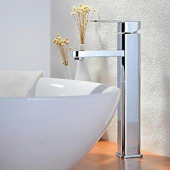Single Hole Handle Deck Installation Hot And Cold Water Tall Faucet