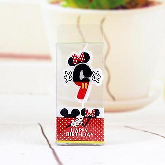 1 Pcs Cartoon Candles Mickey Number Birthday Party Decoration Tools