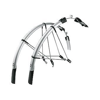"""SKS RACEBLADE LONG Road Bike Fender (Set) // 28"""" black/silver"""