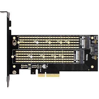 Sk6 M.2 Nvme، SSD Ngff إلى محول Pcie X4، M مفتاح B مفتاح بطاقة واجهة مزدوجة