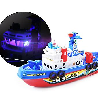 Fast Speed Music Light Electric Marine Rescue Fire Fighting Boat Toy