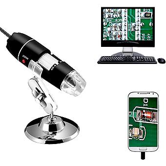 40 to 1000x Magnification Endoscope, 8 LED USB 2.0 Digital Microscope