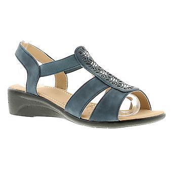 Womans Ladies Summer Sandal Open Toe Wedge UK Size