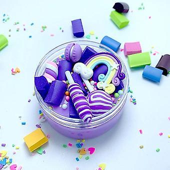 レインボーロリポップチャームクリアスライムソフトクレイプラスチックイン&教育玩おもちゃ