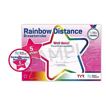 ASA zwemmen Engeland Rainbow beroerte Award - schoolslag - 5m
