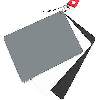 Cartão de equilíbrio branco anwenk cartão cinza 18% exposição cartão de fotografia verificador de câmera de calibração wof98601