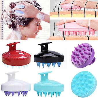 Comb Handheld 8 Colors Silicone Scalp Shampoo Massage Brush Washing Comb Shower Head Hair Mini Head Meridian Massage Wide Tooth