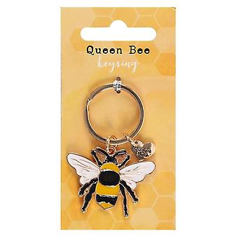 Something Different Queen Bee Enamel Keyring