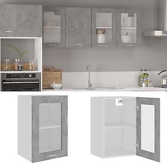 Gabinete de vidrio colgante hormigón gris 40x31x60 Cm Aglomerado