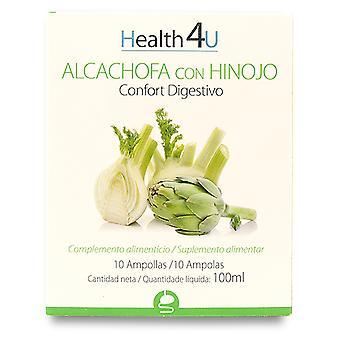 Health 4U Artichoke with Fennel 10 Ampoules