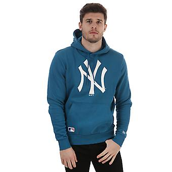 Menns New Era Team Logo New York Yankees Hoody i blått