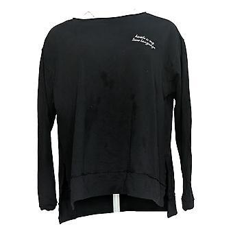 Rachel Hollis Ltd Women's Sweater Long Sleeve Pullover Black A381402