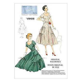 Vogue coser patrón 9106 misses señoras vestido cinturón tamaño 14-22 Uncut Vintage 1952