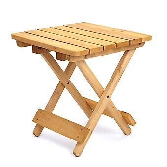 Square Folding Solid Wood Garden Patio Side Table - Coffee Snack Picnic Drink
