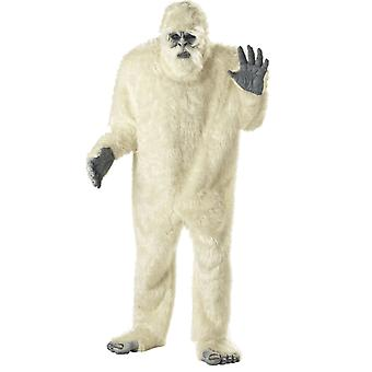 Mens Abominable Snowman Yeti Big Foot Halloween Monster Fancy Dress Costume