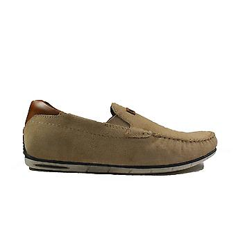 Bugatti 321-A2X63-5300 Sand Suede Leather Mens Slip On Shoes