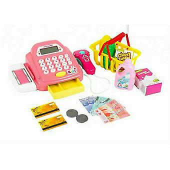 Kids Supermarket Shop Role Play Cash Register Food and Toy Trolley