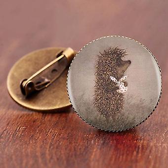 Hedgehog Brooch Søte Dyrepinner, Smykker Brosjer, Antikk BronseBelagt