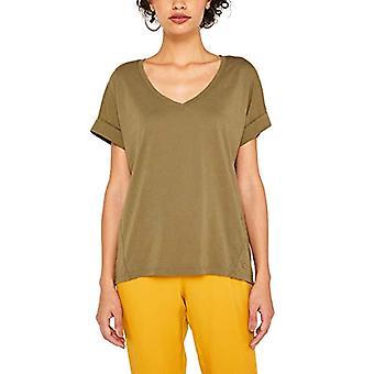 edc by Esprit 079cc1k012 T-Shirt, Green (Khaki Green 350), X-Small Woman