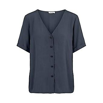 PIECES PCCECILIE SS Top Noos BC T-Shirt, Blue Shadows, XS Woman