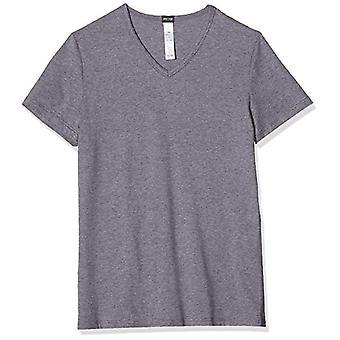 Hom Classic Tee-Shirt V Neck Dressing Gown, Grey (Gris Chin 00zu), Large Men's