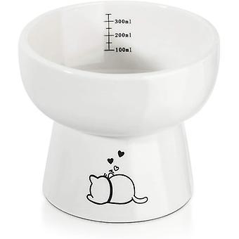 Katzennapf, Futternäpfe Katzenfutter, 12 Ounces Keramik Fressnäpfe mit Ständer, Katzen zubehör,