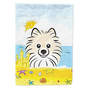 Caroline's Treasures Bb2075Chf Pomeranian Estate Beach Flag Canvas House, Grande, Multicolore