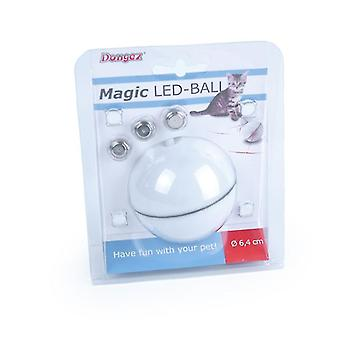 أبيض ليزر كهربائي لعبة القط القط، أدى مضيئة USB شحن الليزر مضحك القط الكرة az676
