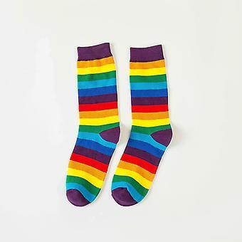 женщина Хлопок полоса колено длинные носки