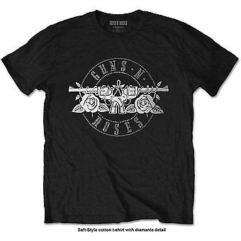 Guns N' Roses - Circle Logo Miesten suuri T-paita - Musta