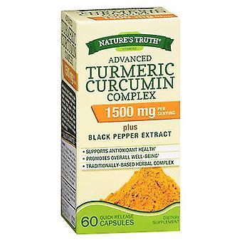 Nature's Truth Nature'S Truth Advanced Turmeric Curcumin Complex Capsules, 1500 mg, 60 Caps