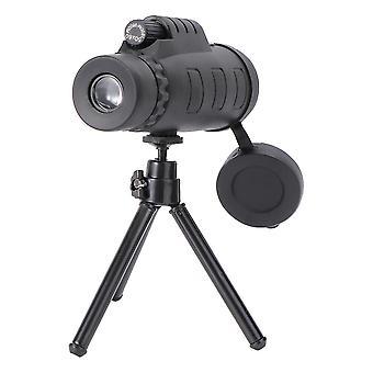 Puissant télescope monoculaire 50x60 de haute qualité jumelles monoculaires portables avec trépied de support de téléphone et boussole