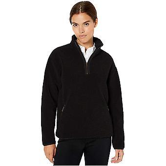 Merkki - Daily Ritual Naisten nallekarhu Fleece Quarter Zip Jacket, Musta, Pieni