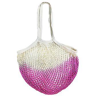 Přenosná bavlněná síťovaná taška Nákupní taška Síťovaná taška Nákupní taška Dutá tkaná taška