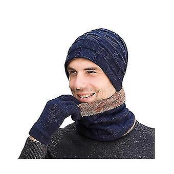 Print Scarf Cashmere Feel Warm Winter Neck Wraps Pashmina Shawls(BLUE)