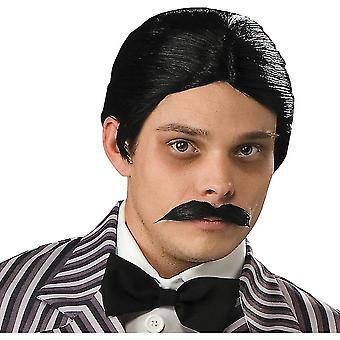 Hudební drama Paruky Gomez Addams Syntetické vlasy Paruky