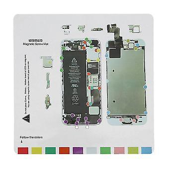Profesionální magnetické šroubovací podložky Technik Opravná podložka Průvodce pro Iphone 5 5s