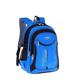 Big Capacity, School Backpack, Waterproof Satchel, Kids Book Bag(Blue With Black Small)