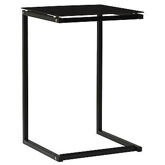 """שולחן צדדי vidaXL שחור 40x40x60 ס""""מ זכוכית מחוסמת"""