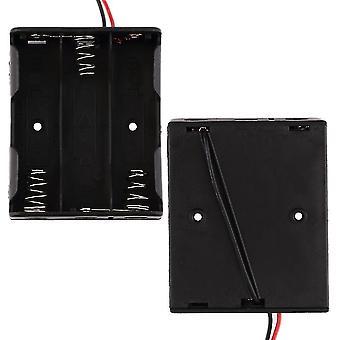 3パック標準Aa 1.5v電池用バッテリーボックススロットホルダーケース