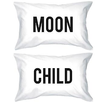 Funny Pillowcases Standard Size 20 x 31 - Moon Child Matching Phillow Case