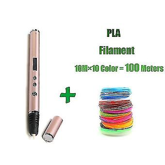 3D الطابعات الحزاز 3d القلم rp900a diy 3D دعم القلم الطباعة القيمة المطلقة / pla خيوط 1.75Mm هدية عيد الميلاد لعبة خلاقة ل