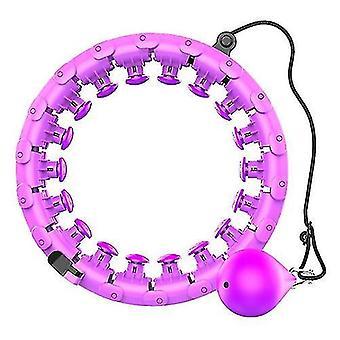 Allenamento domestico Smart Sport hula Hoop con staccabile, regolabile auto-spinning (viola)