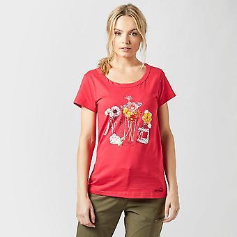 Nieuwe Peter Storm Women's jam jar reizen casual T-shirt roze