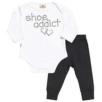 Verwend rotte Shoe Addict Babygrow & Jersey broek Outfit Set