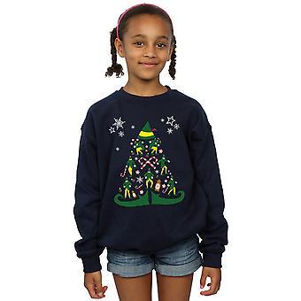 قزم الفتيات البلوز شجرة عيد الميلاد