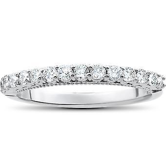 1 / 2ct Diamant Ehering 14k White Gold