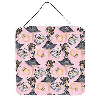 Diva Fashion Aquarelle sur mur rose ou porte accrocher impressions